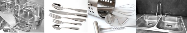 Stahl in der Küche
